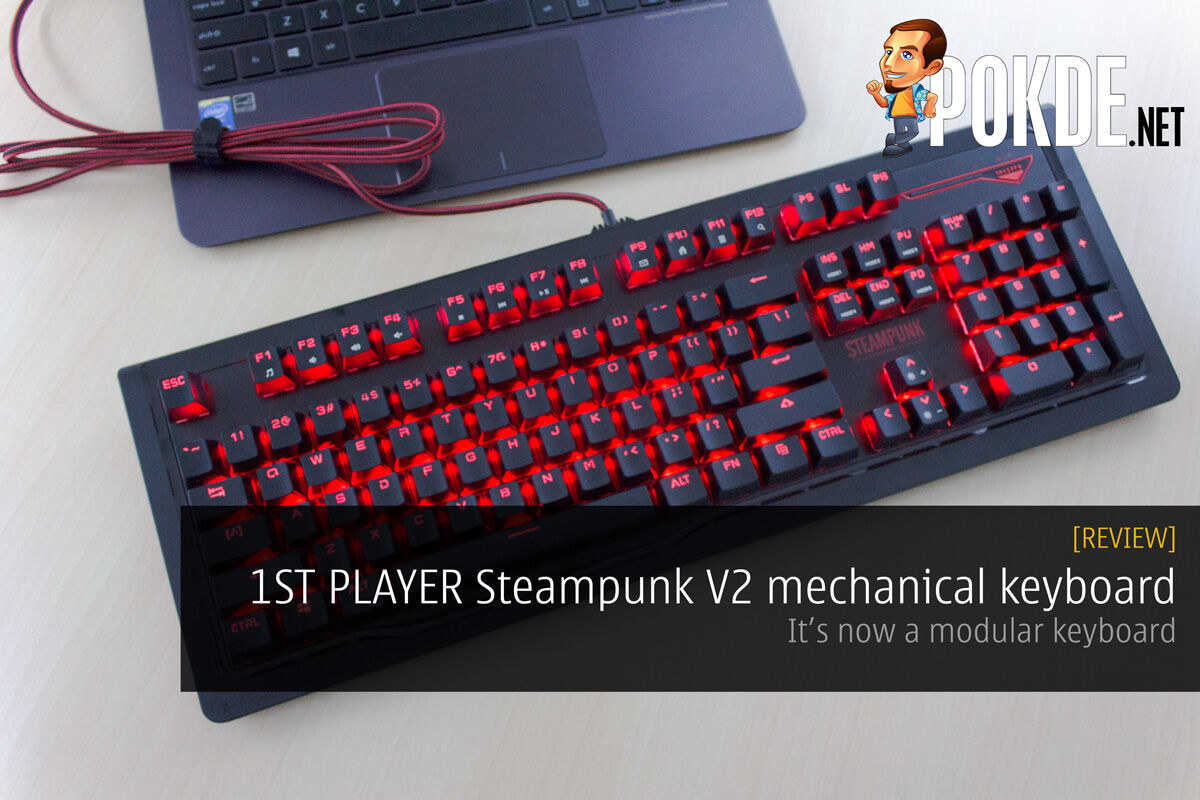 1ST PLAYER Steampunk V2 mechanical keyboard review — it's now modular 26