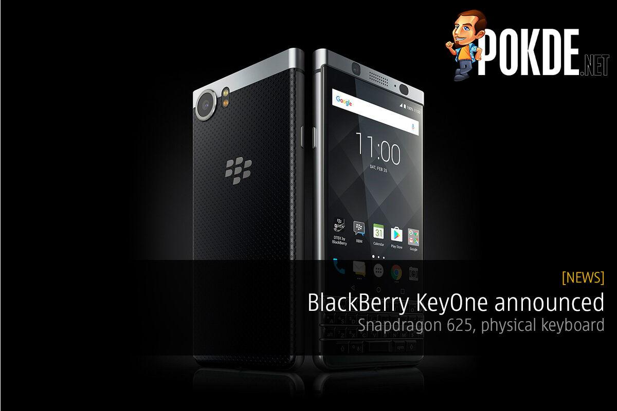 BlackBerry KeyONE announced, Snapdragon 625, physical keyboard 24