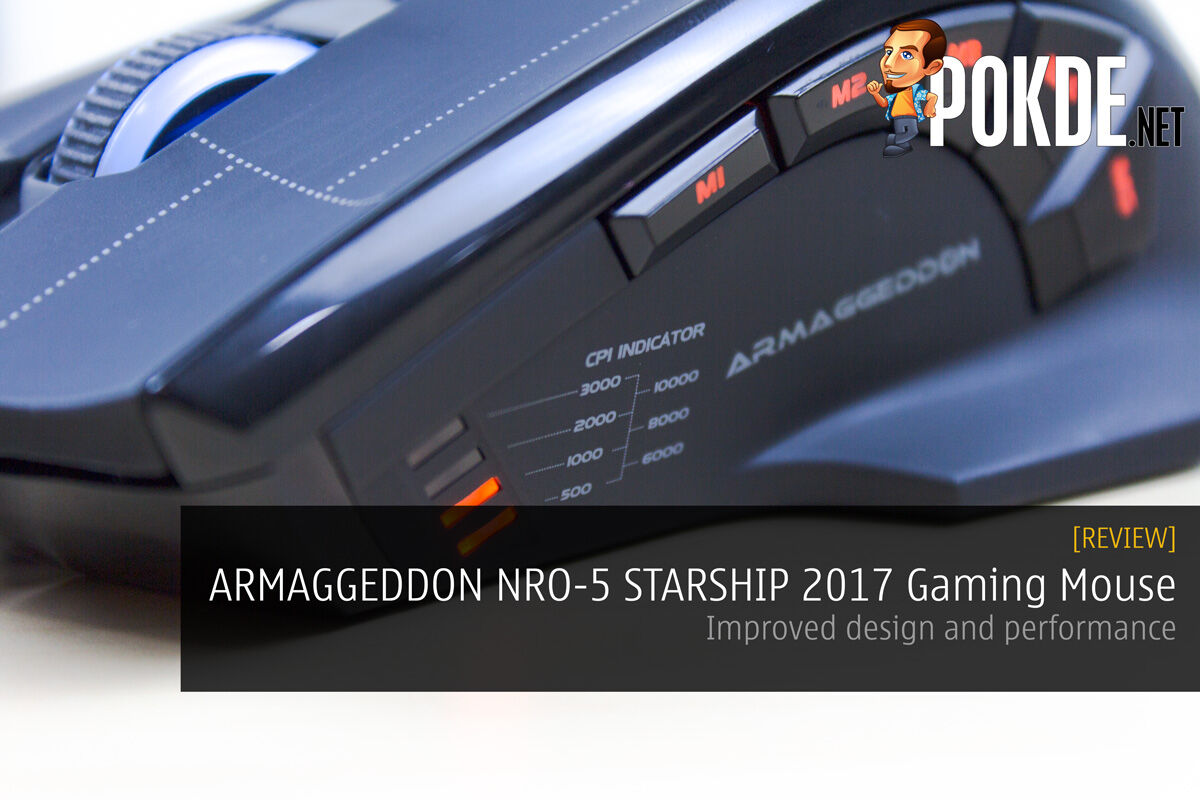 ARMAGGEDDON NRO-5 STARSHIP III 2017 Edition Gaming Mouse Review - Improved design and performance 28