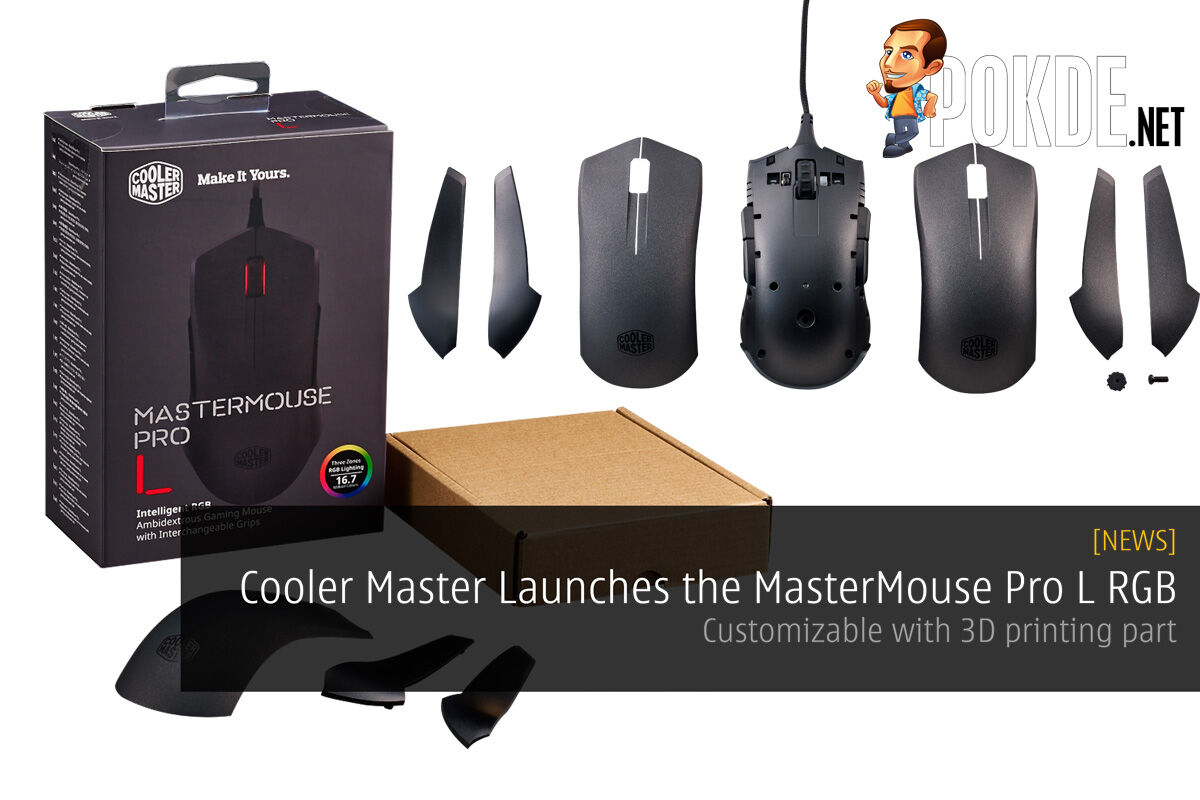 Cooler Master Launches the MasterMouse Pro L RGB – Customizable with 3D printing part 57