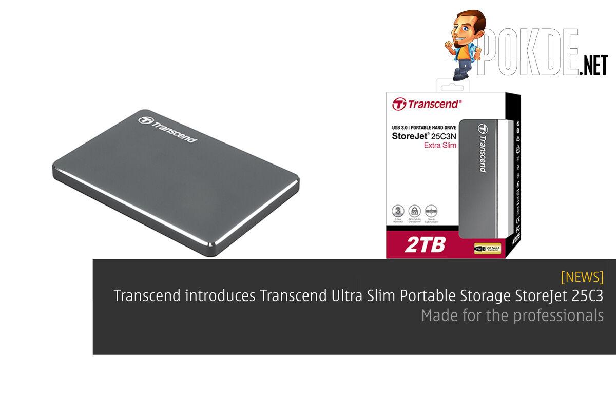 Transcend introduces Transcend Ultra Slim Portable Storage StoreJet 25C3 – Made for the professionals 20
