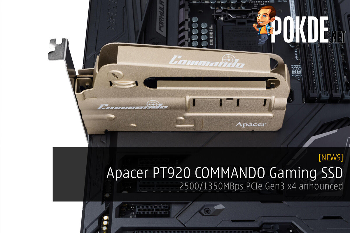 Apacer PT920 COMMANDO Gaming SSD; 2500/1350MBps PCIe Gen3 x4 announced 26