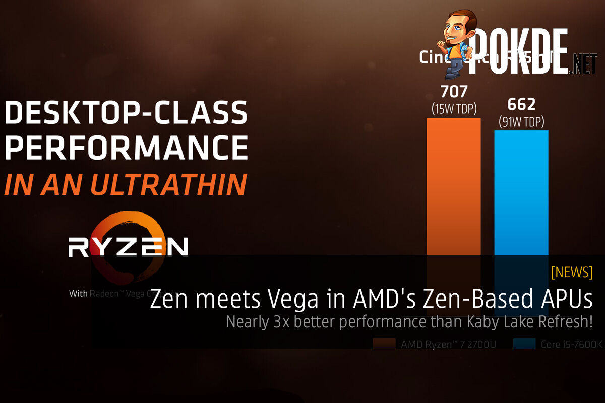Zen meets Vega in AMD's Zen-Based APUs; nearly 3x better performance than Kaby Lake Refresh! 15