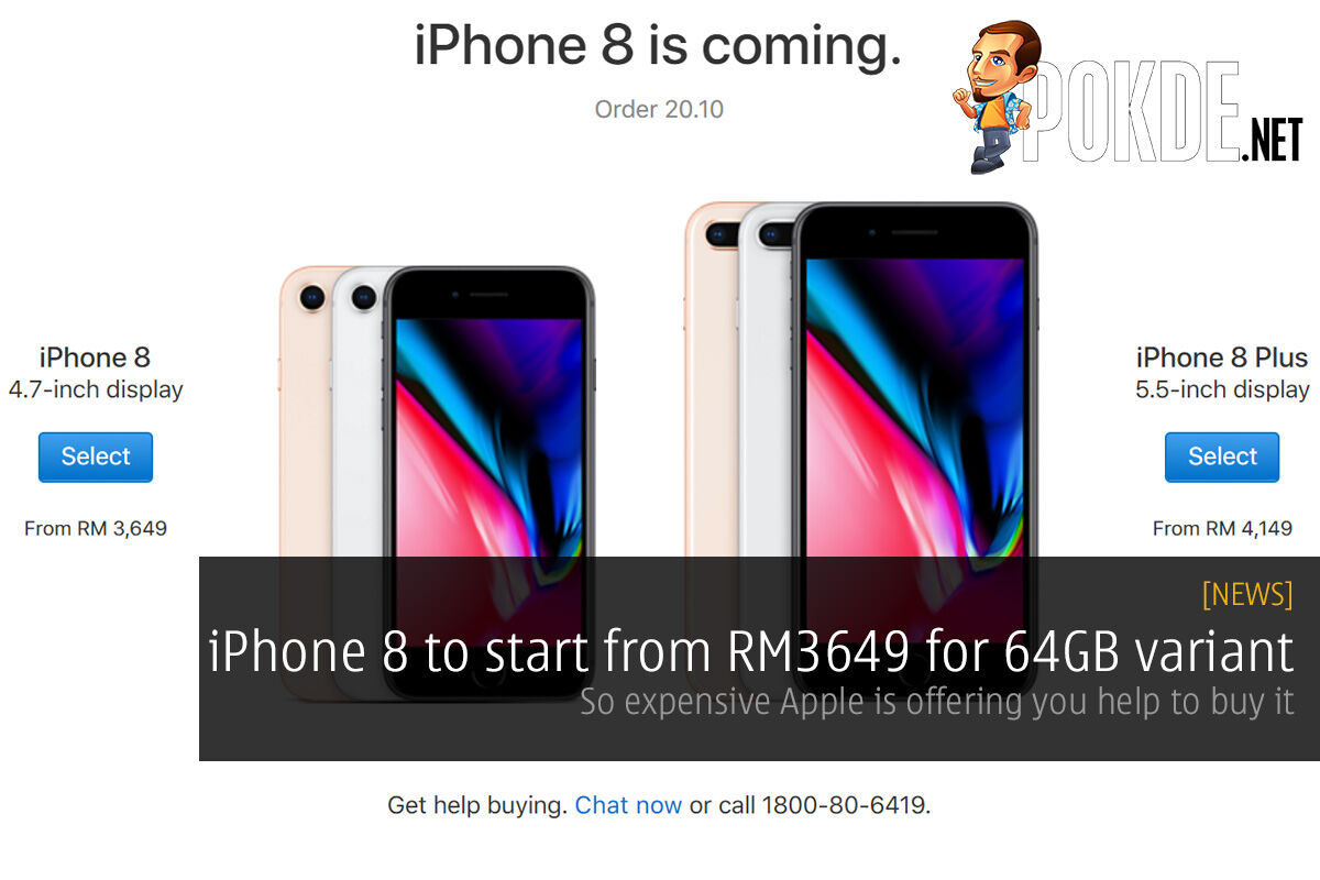 iPhone 8 to start from RM3649 for 64GB variant; so expensive Apple is offering you help to buy it 20