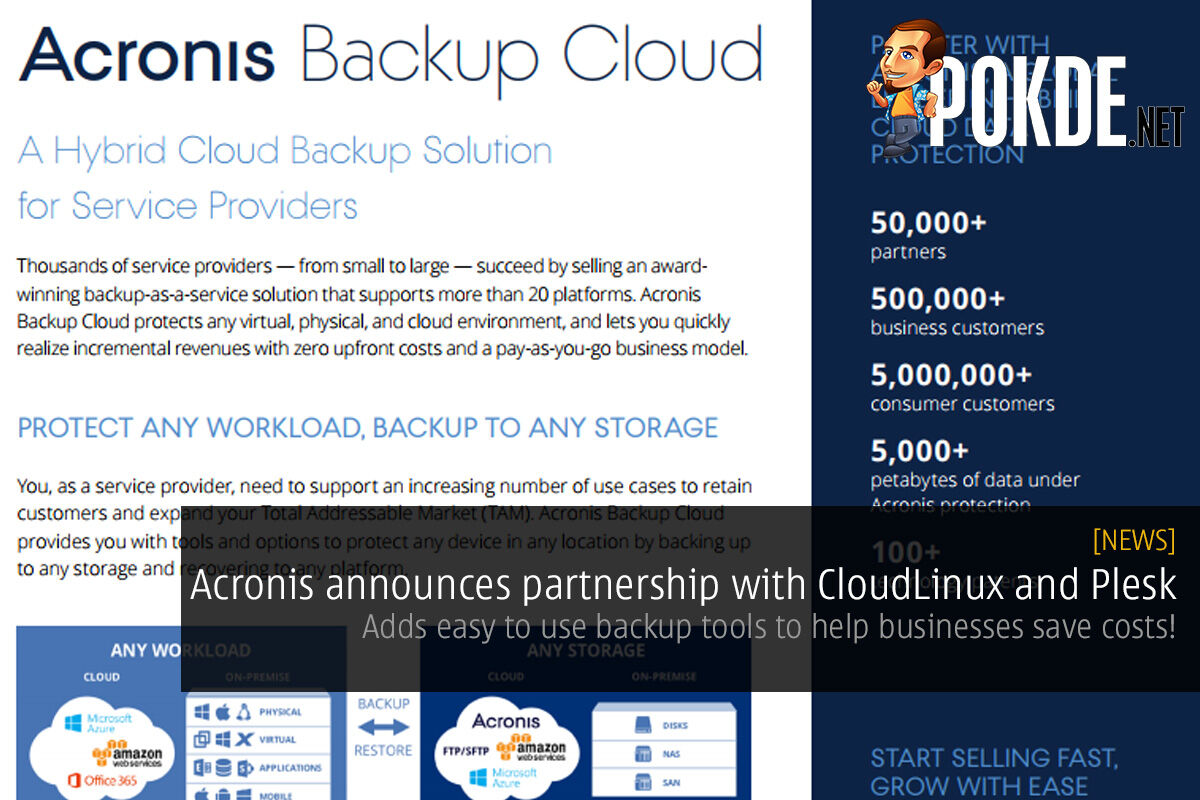 Acronis announces partnership with CloudLinux and Plesk; adds easy to use backup tools to help businesses save costs! 39