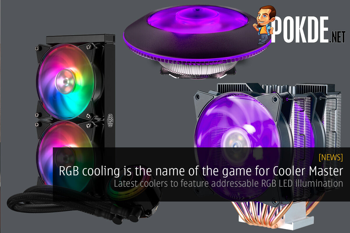 [CES2018] RGB cooling is the name of the game for Cooler Master; latest coolers to feature addressable RGB LED illumination 27