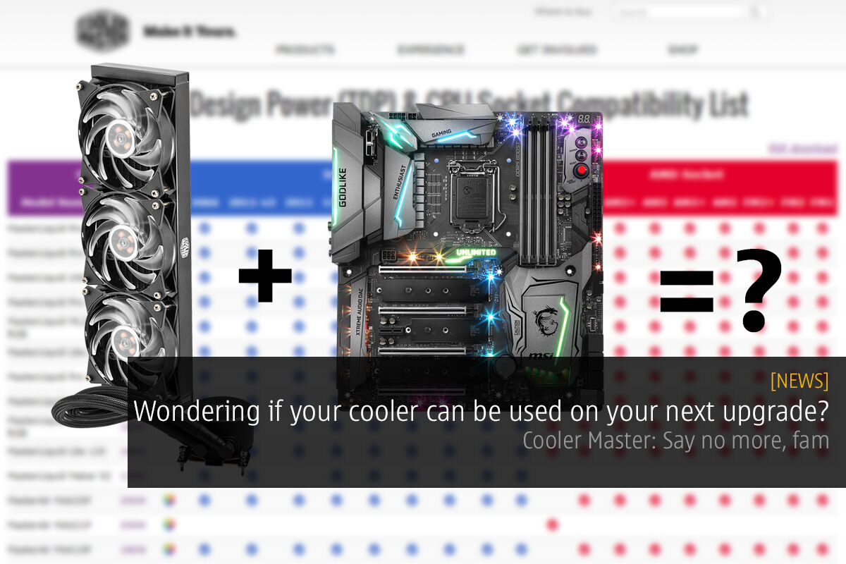 Wondering if your cooler can be used on your next upgrade? Cooler Master: Say no more, fam 29