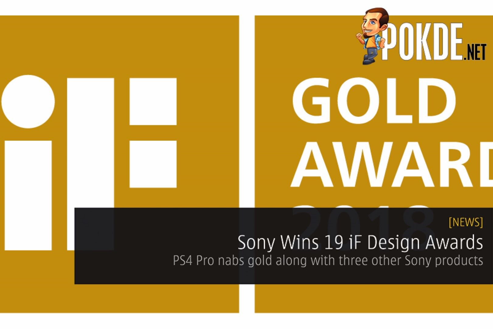 Sony Wins 19 iF Design Awards - PlayStation 4 Pro nabs gold along with three other Sony products 19