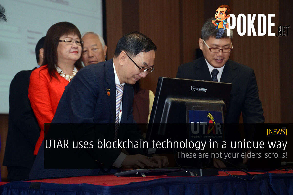 UTAR uses blockchain technology in a unique way — these are not your elders' scrolls! 26