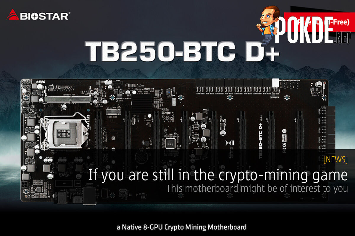 If you are still in the crypto-mining game, this motherboard might be of interest to you 23