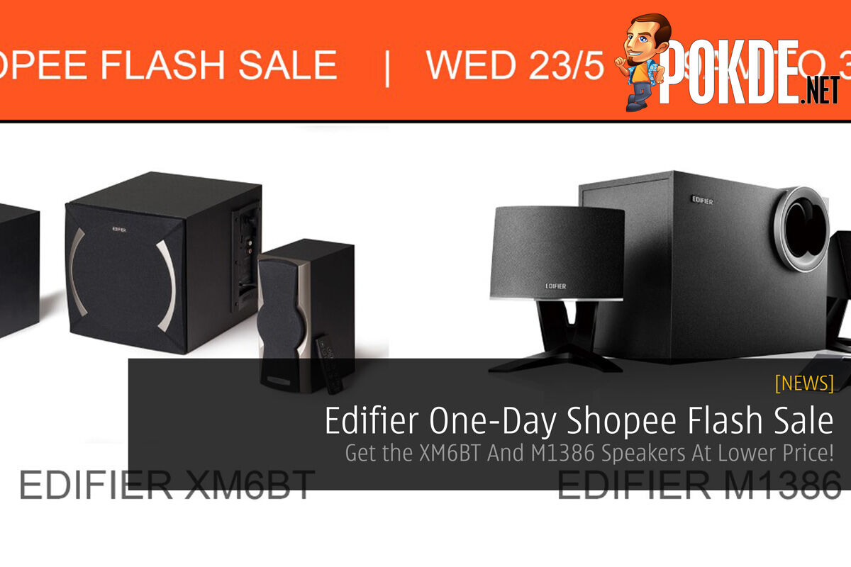 Edifier One-Day Shopee Flash Sale - Get the XM6BT And M1386 Speakers At Lower Price! 48