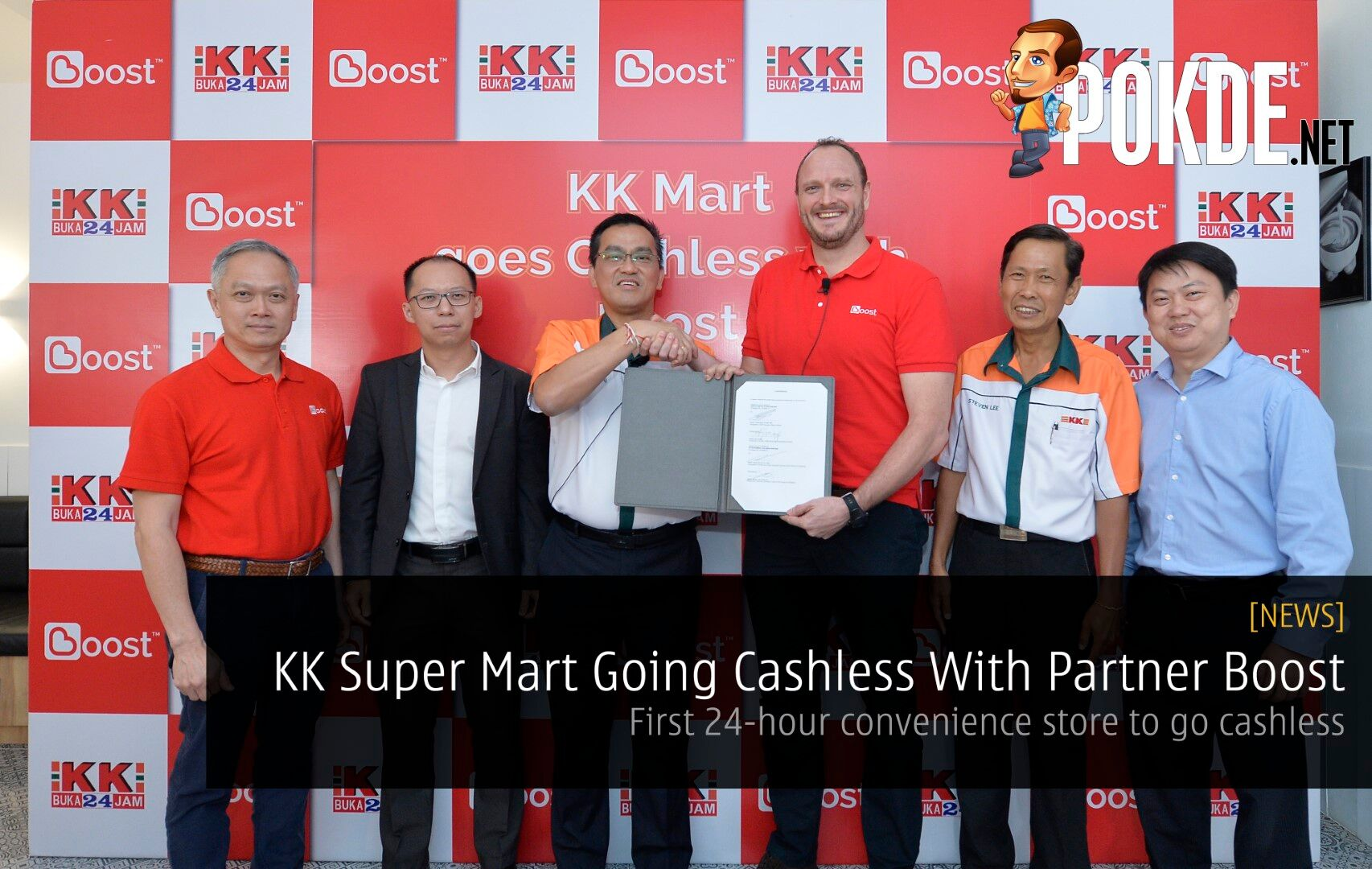 KK Super Mart Going Cashless With Partner Boost- First 24-hour convenience store to go cashless 33