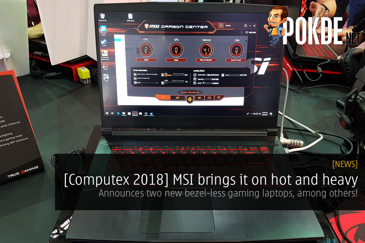 [Computex 2018] MSI brings it on hot and heavy — announces two new bezel-less gaming laptops, among others! 30