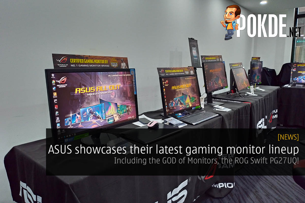 ASUS showcases their latest gaming monitor lineup — including the GOD of Monitors, ROG Swift PG27UQ 25