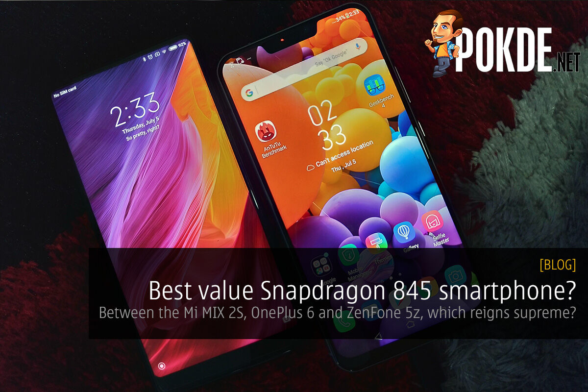 Best value Snapdragon 845 smartphone? Between the Mi MIX 2S, OnePlus 6 and ZenFone 5z, which reigns supreme? 25