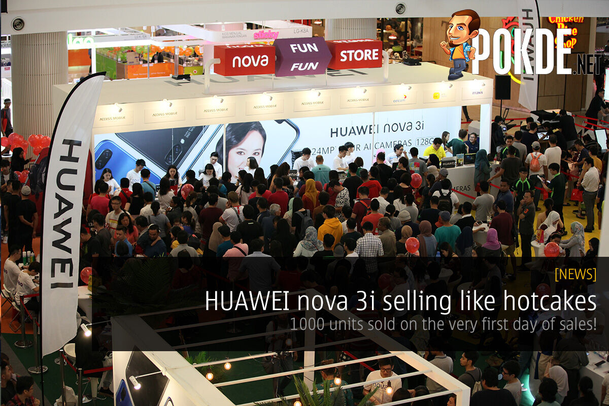 HUAWEI nova 3i selling like hotcakes — 1000 units sold on the very first day of sales at IOI City Mall! 21