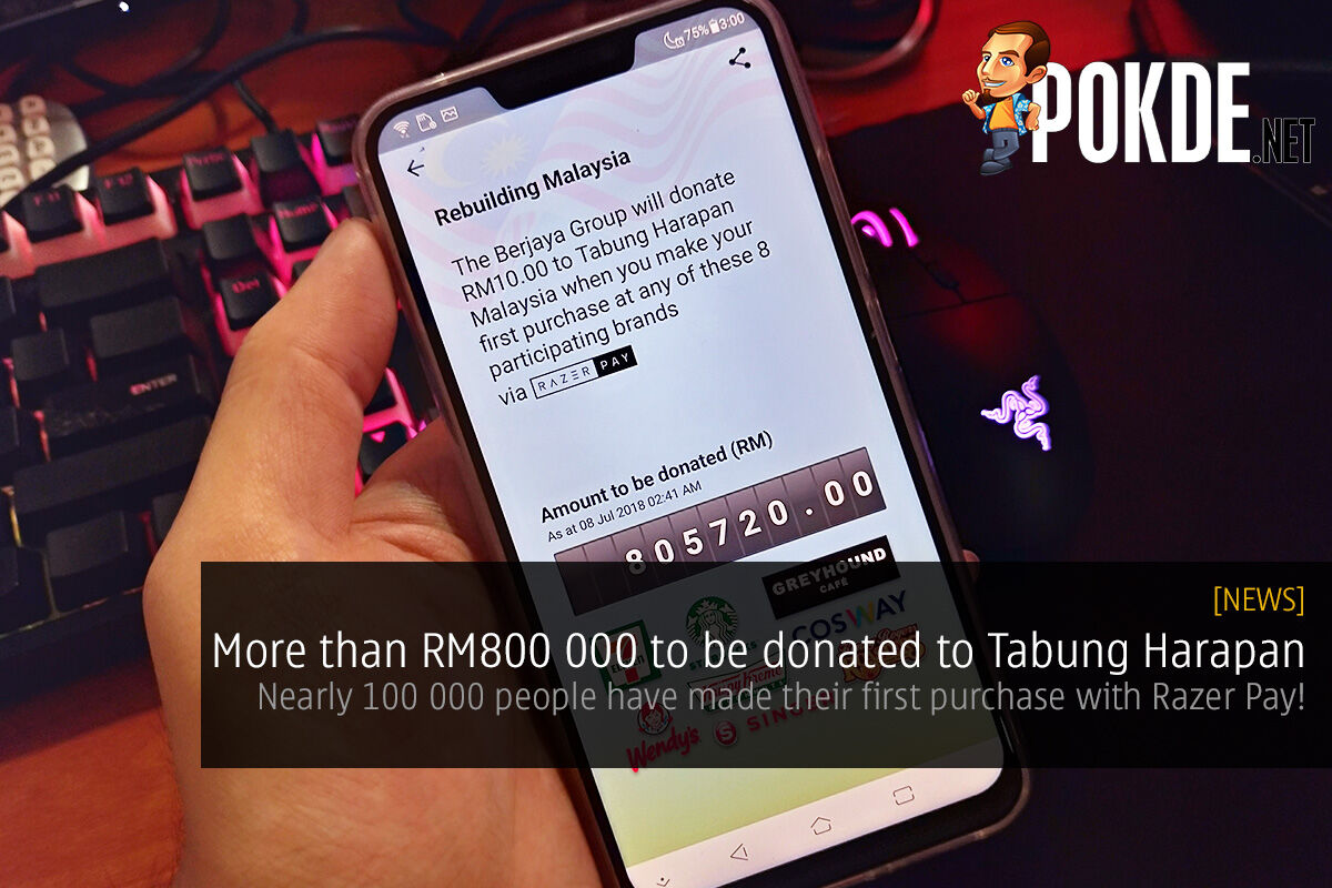 More than RM800 000 to be donated to Tabung Harapan — nearly 100 000 people have made their first purchase with Razer Pay! 27