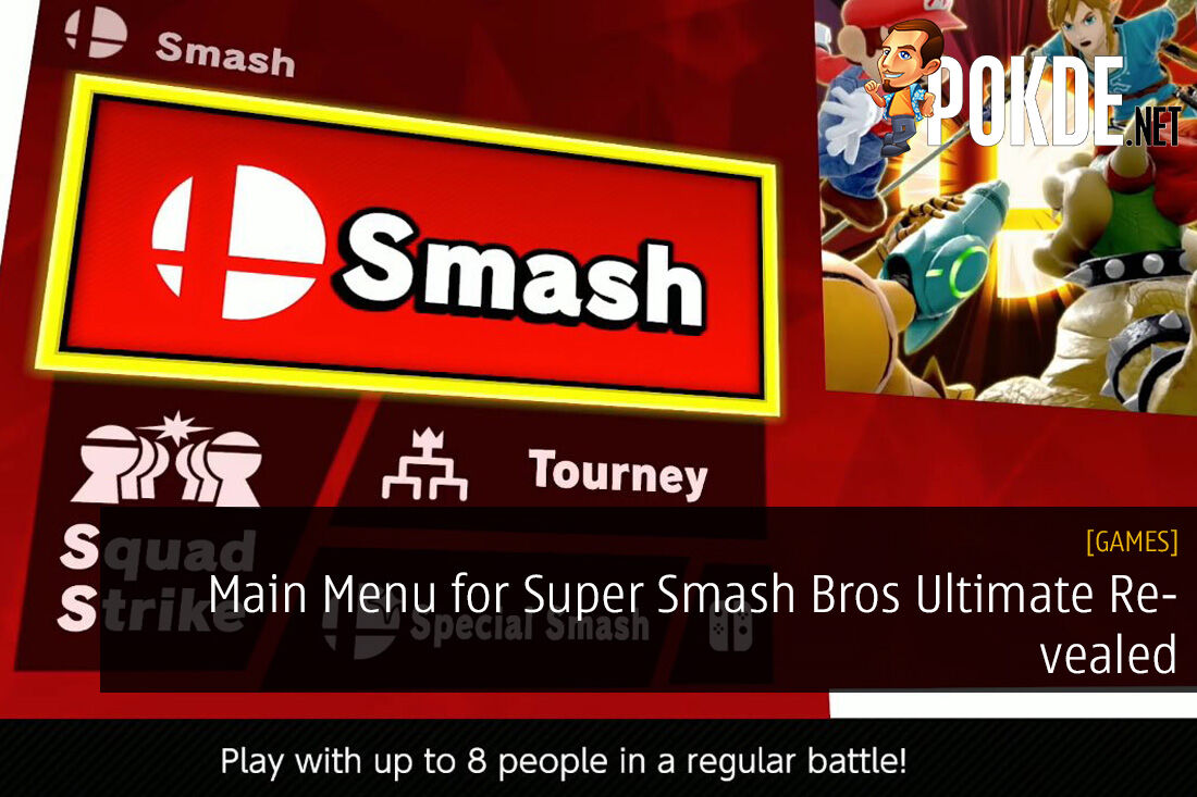 Main Menu for Super Smash Bros Ultimate Revealed