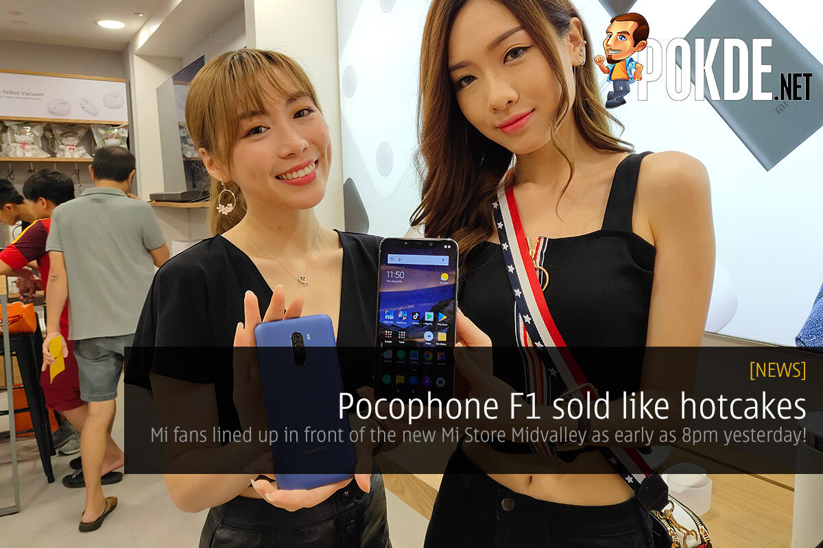 Pocophone F1 sold like hotcakes — Mi fans lined up in front of the new Mi Store Midvalley as early as 8pm yesterday! 22