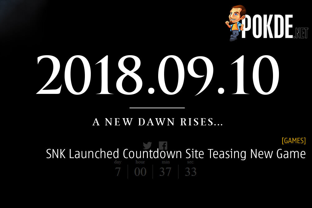 SNK Launched Countdown Site Teasing New Game