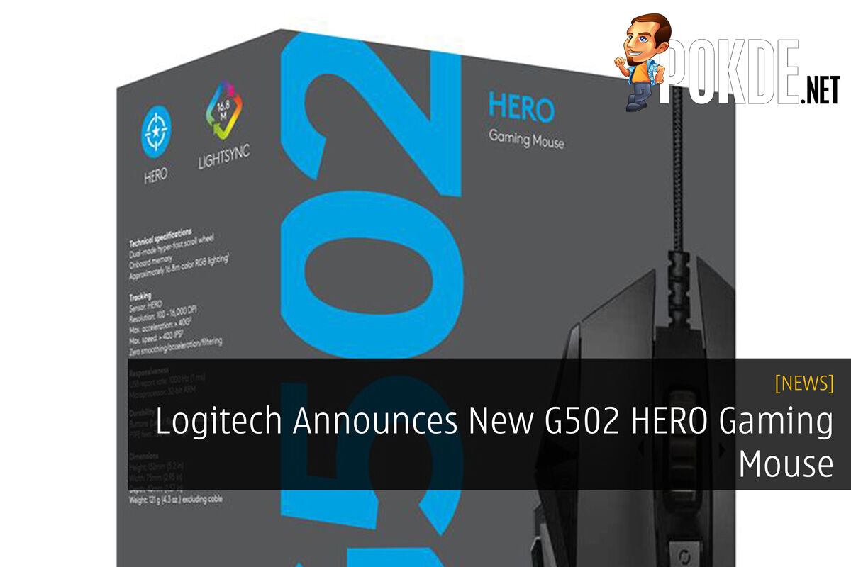 Logitech Announces New G502 HERO Gaming Mouse 23