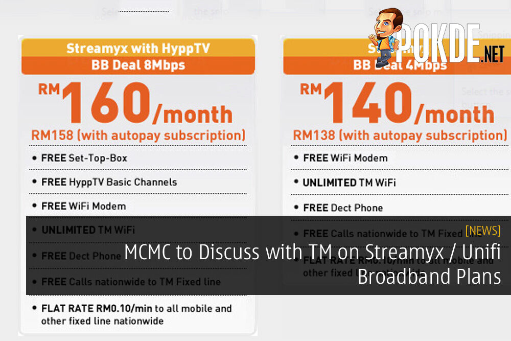 MCMC to Discuss with TM on Streamyx / Unifi Broadband Plans