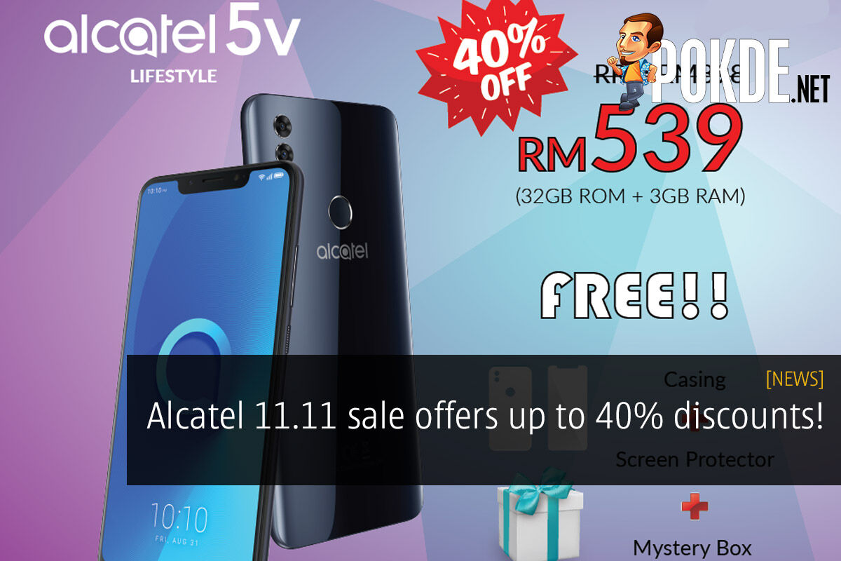 Alcatel 11.11 sale offers up to 40% discounts! 37