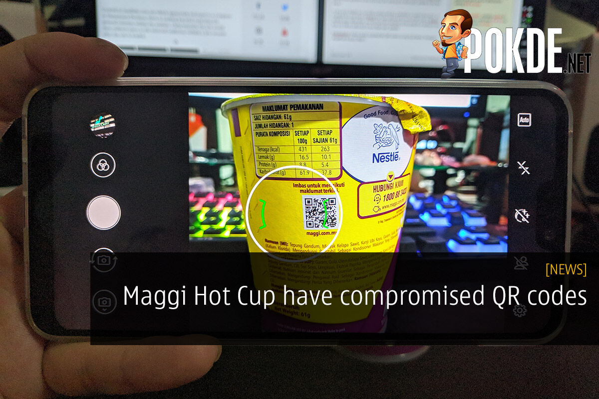 Maggi Hot Cup have compromised QR codes 22