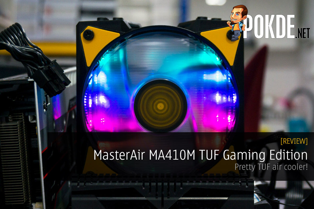 MasterAir MA410M TUF Gaming Edition by Cooler Master review — pretty TUF air cooler! 22