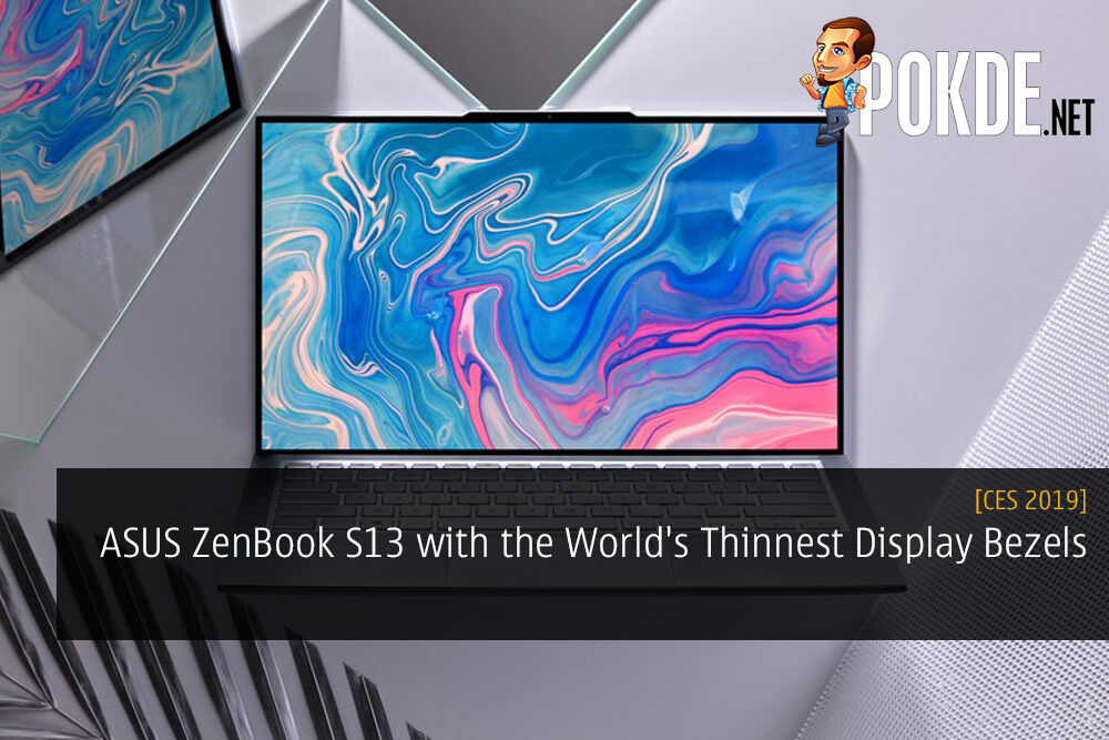 ASUS ZenBook S13 with the World's Thinnest Display Bezels