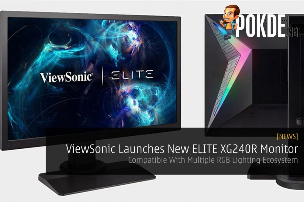 ViewSonic Launches New ELITE XG240R Monitor — Compatible With Multiple RGB Lighting Ecosystem 19