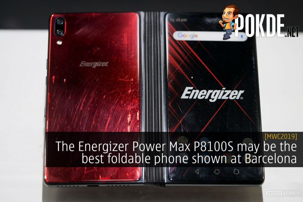 [MWC2019] The Energizer Power Max P8100S may be the best foldable phone shown at Barcelona 23