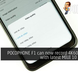 POCOPHONE F1 can now record 4K60 videos with latest MIUI 10 update 25