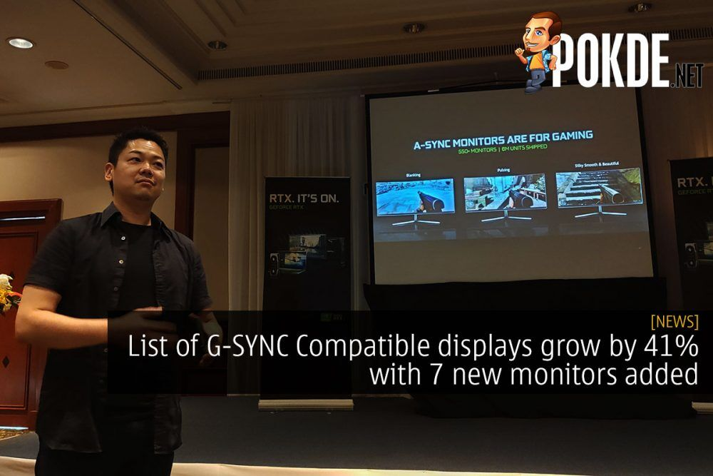 List of G-SYNC Compatible displays grow by 41% with 7 new monitors added 21