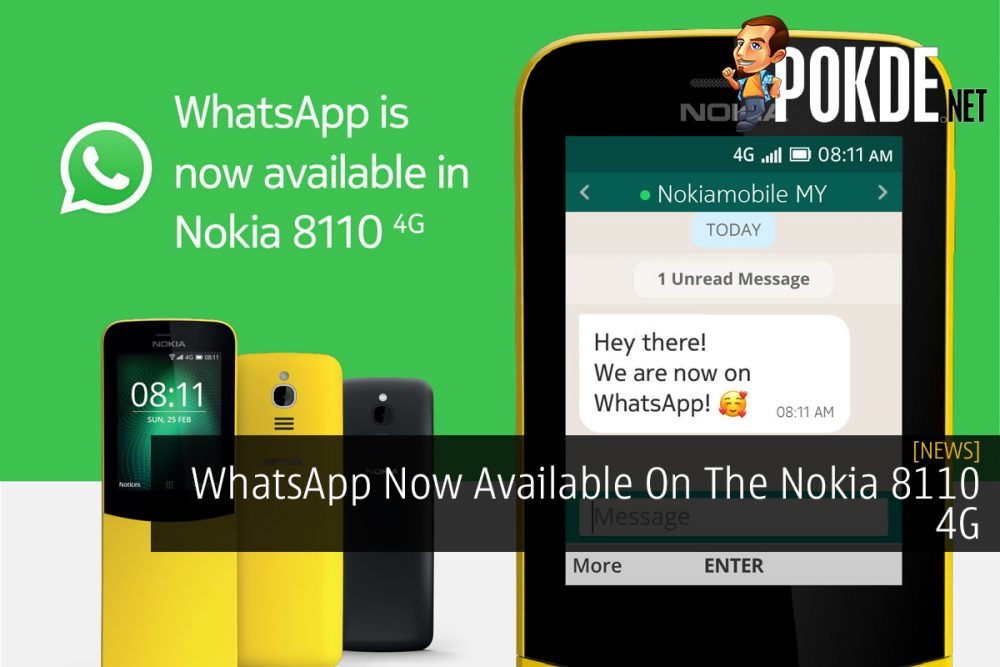 WhatsApp Now Available On The Nokia 8110 4G 25