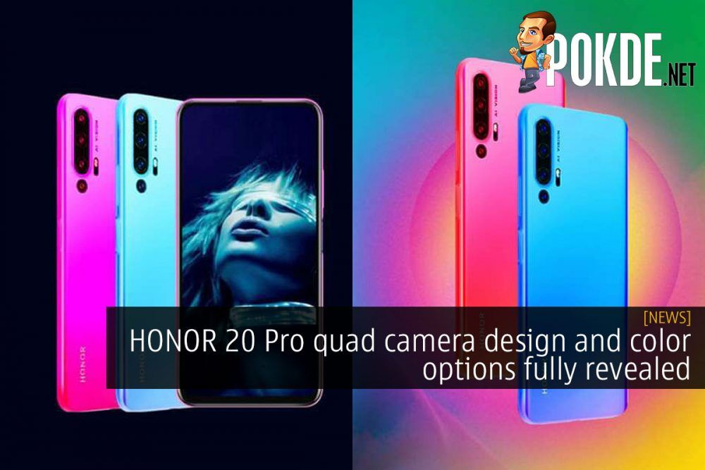HONOR 20 Pro quad camera design and color options fully revealed 19