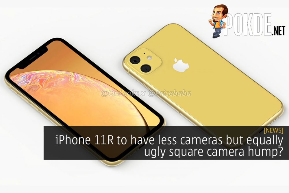 iPhone 11R to have less cameras but equally ugly square camera hump? 24