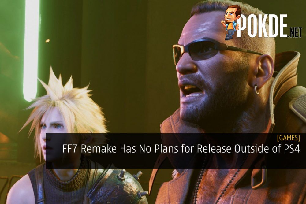 Final Fantasy VII Remake Has No Plans for Release Outside of PS4