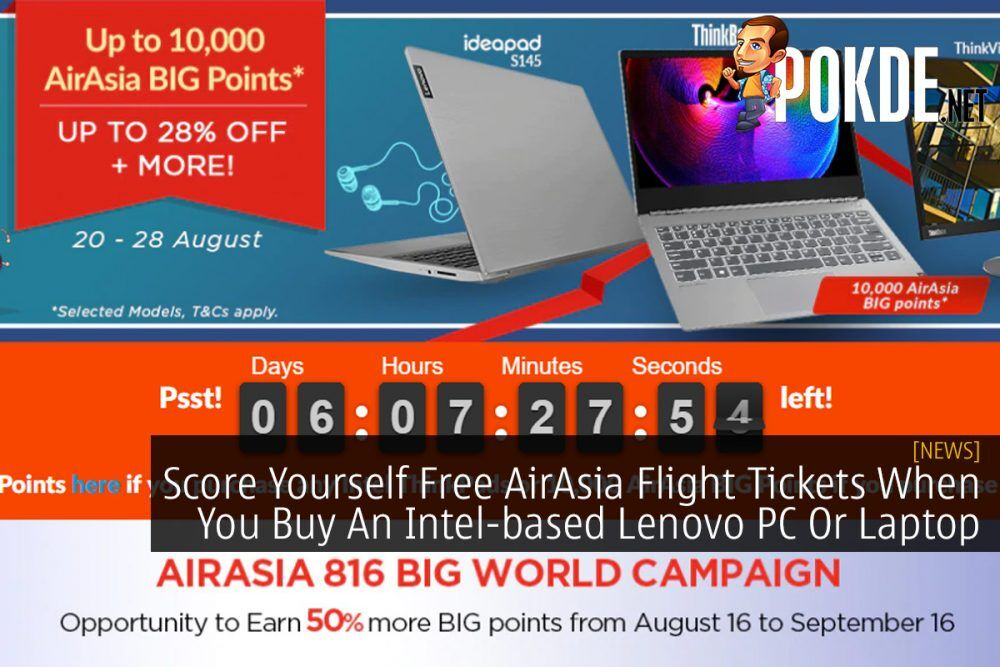 Score Yourself Free AirAsia Flight Tickets When You Buy An Intel-based Lenovo PC Or Laptop 23