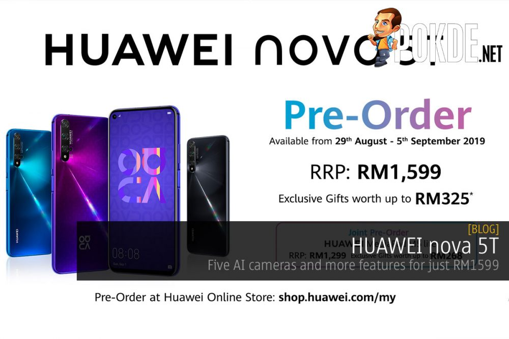 HUAWEI nova 5T — five AI cameras and more features for just RM1599 22