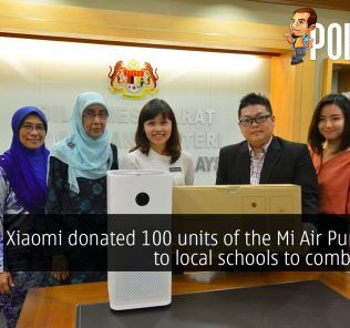 Xiaomi donated 100 units of the Mi Air Purifier 2S to local schools to combat haze 27