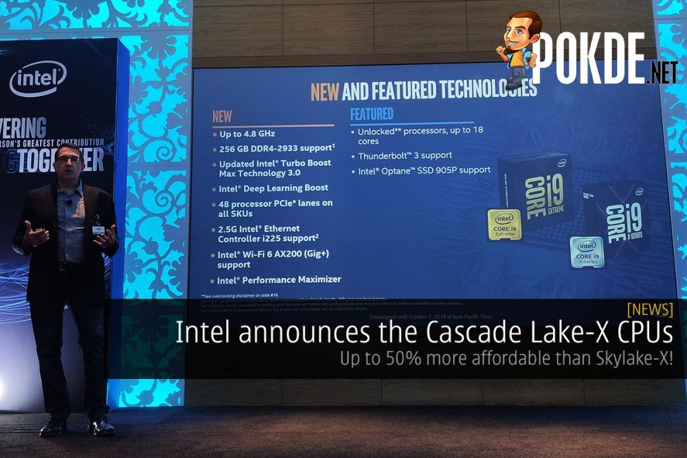 Intel announces the Cascade Lake-X CPUs — up to 50% more affordable than last-gen! 19