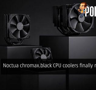 Noctua chromax.black CPU coolers finally released 30