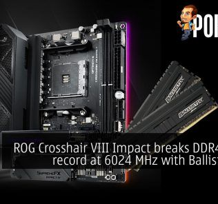 ROG Crosshair VIII Impact breaks DDR4 world record at 6024 MHz with Ballistix RAM 34
