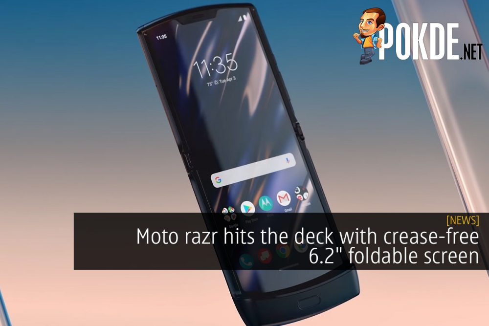 """Moto razr hits the deck with crease-free 6.2"""" foldable screen 27"""