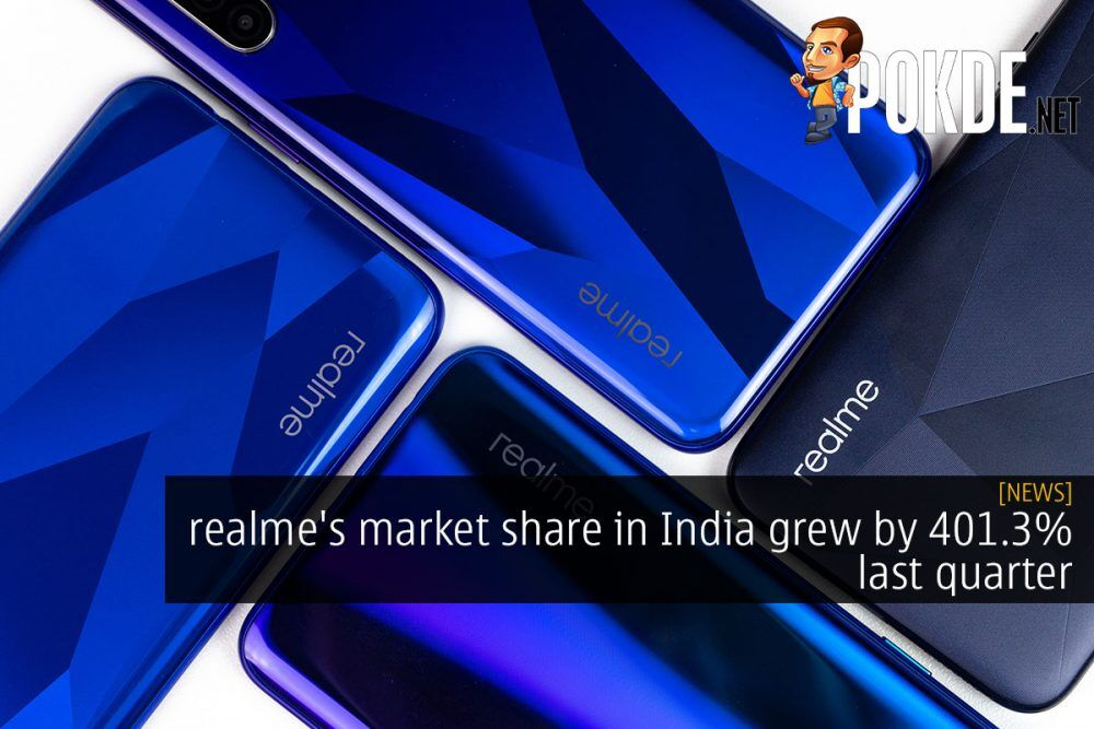 realme's market share in India grew by 401.3% last quarter 23
