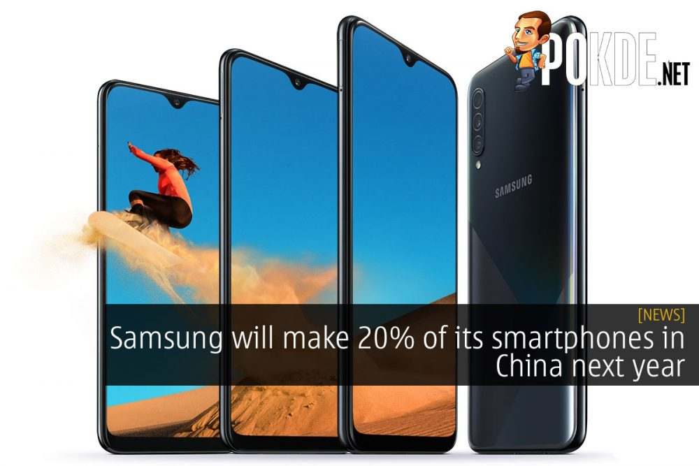 Samsung will make 20% of its smartphones in China next year 24