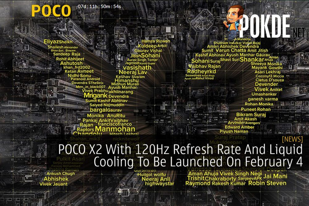 POCO X2 With 120Hz Refresh Rate And Liquid Cooling To Be Launched On February 4 21