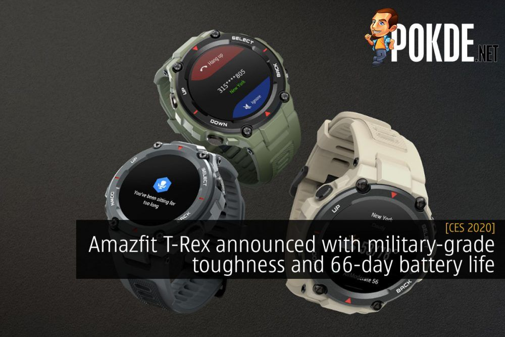 CES 2020: Amazfit T-Rex announced with military-grade toughness and 66-day battery life 22