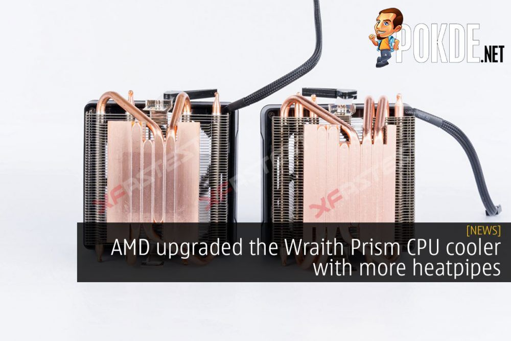 [UPDATED] AMD upgraded the Wraith Prism CPU cooler with more heatpipes 24